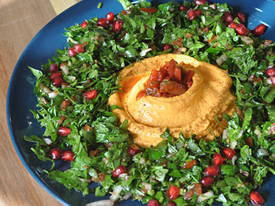Hummus with Tabouleh